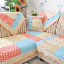 【天猫装修节】田园生活韩版蝴蝶结沙发垫全棉布艺绗缝坐垫飘窗垫 价格:84.00