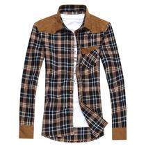 远东秋装长袖衬衫男士韩版休闲衬衣男长格子衬衫男长袖修身潮男装 价格:55.00