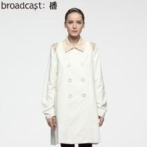 播 不说永远 2013秋装 新款女装 正品 韩版 修身 双排扣风衣外套 价格:639.00