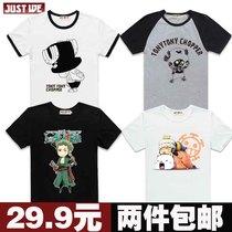 2件包邮 海贼王t恤 衣服 乔巴 索隆 罗卡通动漫 短袖男女情侣T恤 价格:29.90