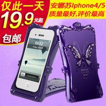 安娜苏魔镜iphone4s手机壳 苹果5手机壳 外壳子潮女保护套最新款 价格:19.90