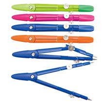 得力8607圆规 彩色学生圆规 绘图仪器 带铅芯 测绘仪器 工程制图 价格:4.80
