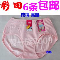 六件包邮彩田纯色全棉高腰竹纤维棉女士三角裤舒适包臀内裤7005 价格:8.00