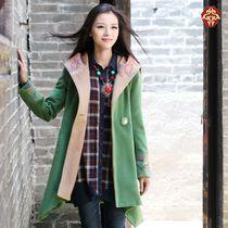 2013秋款上新外套毛呢大衣中长款中国风民族风女装两人故事旗舰店 价格:389.00