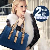 2013新款韩版潮流真皮女包 欧美时尚手提包单肩包大包 牛皮包包邮 价格:168.00