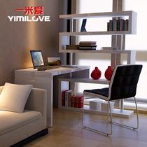 【天猫装修节】简约转角旋转书桌书架组合电脑桌台式桌家用写字台 价格:1659.58