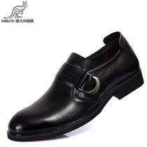 意大利袋鼠男鞋 低帮商务休闲鞋 头层牛皮防滑橡胶底透气猪皮内里 价格:159.00