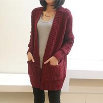 2013秋装新款 女装韩版宽松大码加厚V领麻花复古蝙蝠毛衣外套开衫 价格:89.00