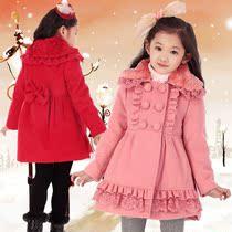 童装女童2013秋冬装新款韩版时尚夹棉大衣儿童羊毛呢宝宝加厚大衣 价格:138.00