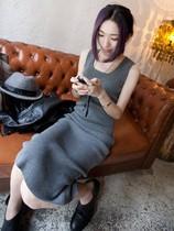 包邮 2013秋冬春新款女装纯棉连衣裙欧美风莫代尔背心长裙 价格:19.90