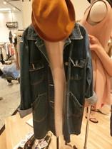 2013秋装新款 女牛仔外套 修身韩版多口袋中长款女长袖牛仔风衣女 价格:168.00