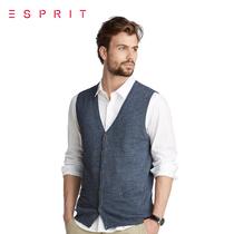 【限时5折】新品 ESPRIT 男装EDC系列针织背心UD5302F 原价369 价格:184.50