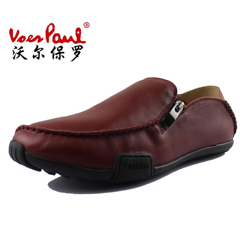 沃尔保罗2013秋季新款休闲男鞋韩版时尚驾车鞋英伦风真皮套脚潮鞋 价格:280.00