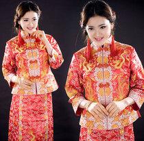 新款龙凤褂 裙褂 珠褂 机绣金银线 小五福褂裙 新娘古装 秀禾服 价格:720.00