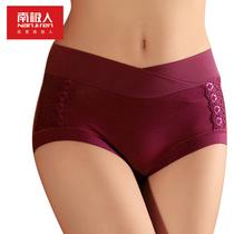 3条包邮 南极人正品 莫代尔高腰女士内裤 收腹提臀三角裤 短裤女 价格:12.50