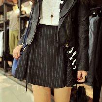 绵羊er2013秋季新款欧美街拍条纹高腰显瘦半身裙大摆女短裙 A962 价格:69.00