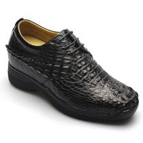 2013精品订做款何金昌内增高鞋 商务正装鞋特高9cm法国鳄鱼男式鞋 价格:6200.00