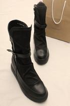 欧美范 2013秋季新款中筒马丁短靴子 厚底内增高帆布女单鞋骑士靴 价格:129.00