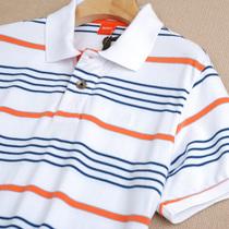 爱酷男装◆德国博士橙标原单 夏新款男士翻领短袖条纹T恤 货号750 价格:60.00