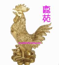 开光 纯铜福字鸡摆件高19.5  公鸡 风水鸡 生肖鸡 家居风水摆饰品 价格:176.00