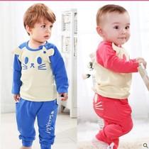 2013秋季韩版女婴幼儿服装小童装男童婴儿套装1-2岁秋装宝宝衣服 价格:49.90