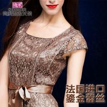 麦斯女装 2013夏装新款欧美宫廷大牌修身显瘦真丝大码蕾丝连衣裙 价格:228.00