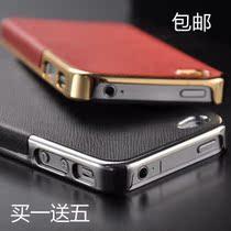 新款iphone4手机壳 苹果4手机壳 iPhone4s保护套 外壳子 电镀贴皮 价格:19.00