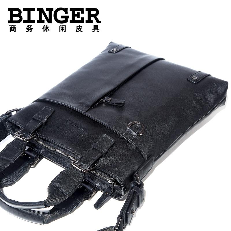 宾格 精品男包 男士 时尚商务真牛皮单肩 竖款手提包休闲公文包包 价格:279.00
