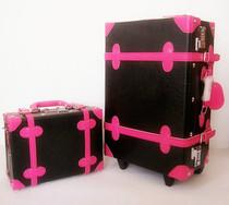 包邮正品男女万向轮复古旅行箱包拉杆箱行李箱登机子母箱婚庆皮箱 价格:247.20