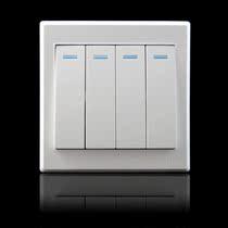 联讯四位双控开关86暗装墙壁电源插座四开4联面板五金电料钢架 价格:9.79