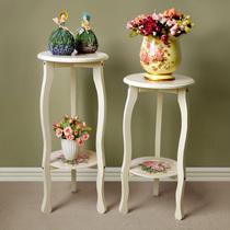 一舟 韩式花架 电话架 装饰架 欧式花架花几 米白色简易花架 特价 价格:125.10