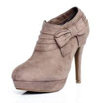 【九块屋独享】法国品牌时尚款式女鞋 高跟防水台深口鞋 名牌单鞋 价格:99.00