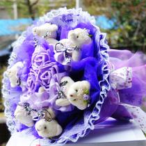 卡通花束包邮棒棒糖花束糖果花束小熊花束生日礼物创意女生娃娃花 价格:49.00