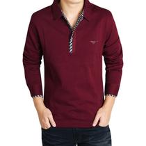 新款七匹狼男装长袖t恤 男品牌正品 2013男士衬衫领纯棉 潮男T恤 价格:78.00