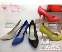 专柜正品代购莱尔斯丹2013新春秋款尖头细跟高跟女鞋单鞋4M94601 价格:218.00