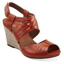 其乐女鞋凉鞋2013新款时尚露趾复古女鞋clarks坡跟鞋真皮凉鞋 价格:589.00