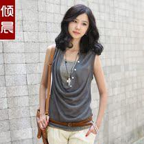 倾晨年中大促前线夏装2013新款两件套加背心女装上衣服潮流t恤 价格:89.00