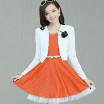 【极度秒杀】秋装新款女装正品甜美少女公主蕾丝花边两件套连衣裙 价格:98.00