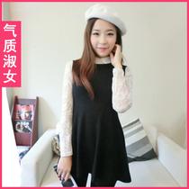 韩版女装2013秋装新款修身显瘦无袖针织毛衣秋装连衣裙女E0849 价格:50.00