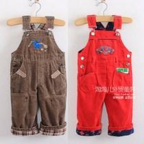 欧单新款儿童背带裤灯芯绒女童背带裤男童背带裤吊带裤 价格:38.00