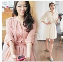 2012夏装新款女装中袖韩版OL大码气质V领修身雪纺连衣裙 夏 价格:79.00