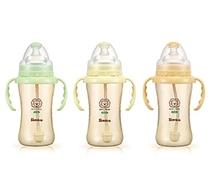 台�稠��S直�]! 小�{王辛巴ppsu奶瓶带吸管手柄婴儿奶瓶270ml 包邮 价格:175.00