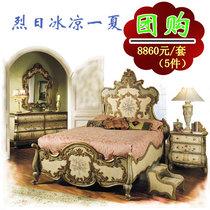 打折秒杀新古典集瑞家具卧室组合卧室家具套装特价卧房家具欧式床 价格:8860.00