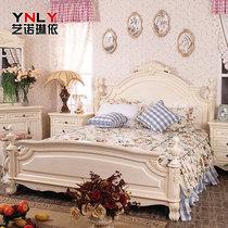 艺诺琳依 卧房实木家具 美式田园白色1.5 1.8米床乡村双人床60906 价格:2664.00