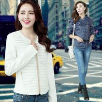 女装2013秋季新款 韩版OL气质透气无领PU皮修身皮衣 皮夹克 价格:99.00