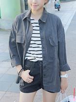 唯一2013秋装新款韩版 个性百搭长袖  宽松女装外套 上衣 B68 价格:38.00