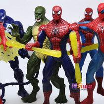 包邮 漫画英雄 超凡蜘蛛侠玩具毒液 7寸可动人偶可发光 全套6款 价格:48.02