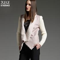 七格格OTHERMIX冬装保暖羊羔毛绒毛衣袖外套皮毛一体女12MG124002 价格:199.00