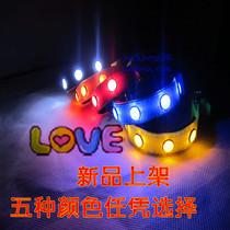 爆闪LED发光项圈 发光狗项圈小型犬TPU宝石狗圈 泰迪闪光宠物项圈 价格:33.30