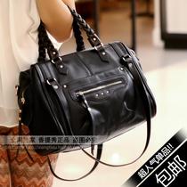 女式大包包2013新款潮女士黑色复古机车包欧美编织手提单肩斜跨包 价格:99.90